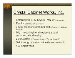 Crystal Cabinet Works Energy Efficiency At Crystal Cabinet Works Inc