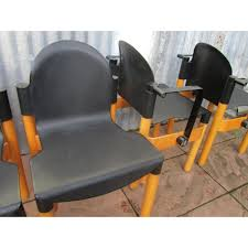 siege thonet set of 6 flex dining chairs by gerd lange for thonet design market