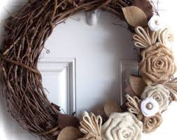 grapevine wreath grapevine wreath with burlap and felt flowers autumn decorate