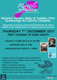 cineplex online rattle stroll monthly parent baby toddler movies at carrick