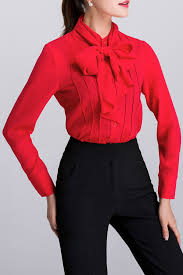 bow tie blouse dongzhouyali sleeve bow tie blouse blouses at dezzal