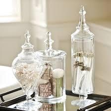 Bathroom Glass Storage Jars Mesmerizing Bathroom Glass Jars Modern Ideas What To Put In Home