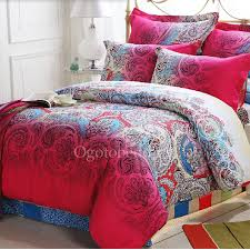 Beautiful Comforters Artsy Red Beautiful Patterned Full Size Comforter Sets Obcs71816