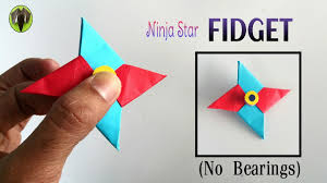 ninja star u0027fidget spinner u0027 handmade diy tutorial by paper