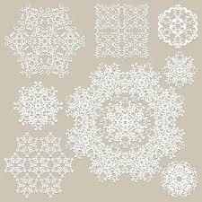 white lace ornaments snowflake vectors vector ornament vector