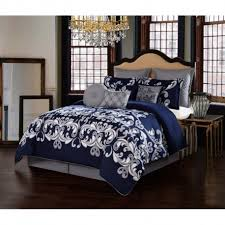 Silver Comforter Set Queen V1969 Dolce Vita Silver Comforter Sets With Decorative Pillows