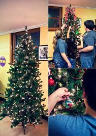 decorated artificial christmas tree for salvation army with diy