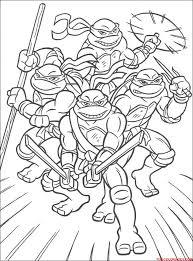 Coloriages Turtles Ninja  Tout En Famille  AZ Coloriage  Super