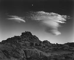rocks moon and clouds alabama california