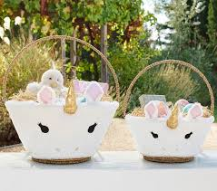 baby easter basket unicorn easter basket liners pottery barn kids