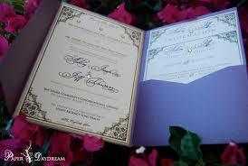 Asian Wedding Invitation Wedding Invitations Paper Daydream