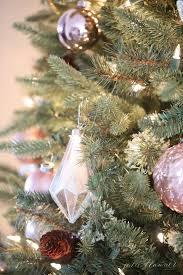 nostalgic tree decorating ideas in blush pink
