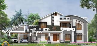 sq ft double floor sloping roof on 3000 sq ft modern house design