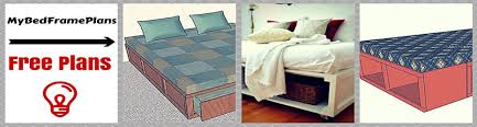 Building A Platform Bed With Storage by Free Bed Frame Plans How To Build A Bed Frame Easy To Follow
