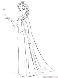 how to draw elsa from frozen step by step drawing tutorials for