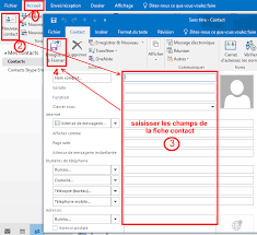 afficher outlook sur le bureau gérer mes contacts dans outlook coursinfo fr