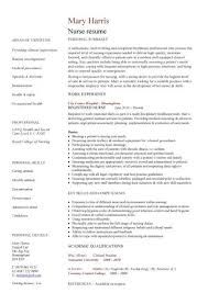 Cath Lab Nurse Resume New Grad Nursing Resume Template Examples Of Nurse Resumes