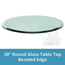 glass top for table round amazon com glass table top 30 round 3 8 thick beveled edge