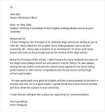 sample reference letter for a student 7 download free documents