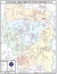 Baton Rouge Zip Code Map by Central Fire Department