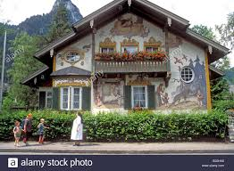 oberammergau passion play bavaria germany europe typical painted