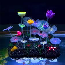 21cm Colorful Artificial Aquarium Coral Decoration Acuarios Lotus