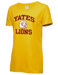 yates alumni yates high school lions women s t shirts prep sportswear