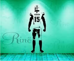 football wall art wall decal decor custom jersey name and zoom