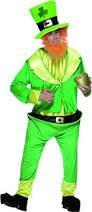 Leprechaun Costume Smiffy U0027s Men U0027s Leprechaun Costume Jumpsuit Jacket Hat And