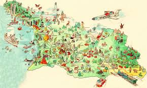 touristic map of about tourism tourist maps of about