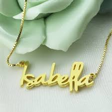 s day necklaces personalized wholesale gold color personalized name necklace tiny nameplate retro