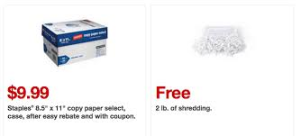 staples black friday coupon new staples coupons free paper shredding paper savings u0026 more