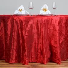 round pintuck taffeta fancy tablecloth dinner wedding party buffet