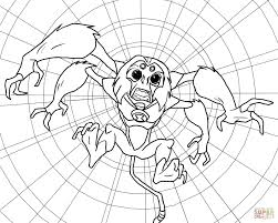 ben 10 alien force spidermonkey coloring free printable
