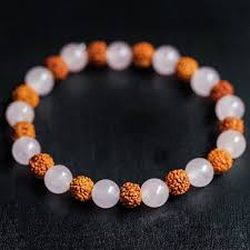 yellow quartz bracelet images Rudraksha rose quartz bracelets for heart healing and divine jpg
