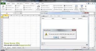 ms excel 2010 how to delete named cells range youtube