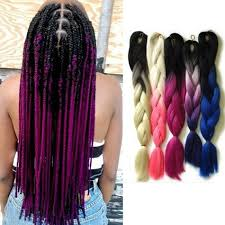 Two Tone Ombre Hair Extensions by Xpression Kanekalon Hair Extension Ombre Jumbo Braid Synthetic
