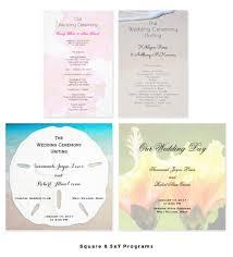 flat wedding programs custom wedding programs in folded and flat designs