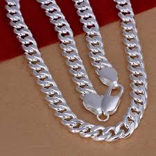 silver necklace cheap images 2018 2013 fashion 925 silver necklace for men classic 20inch 10mm jpg