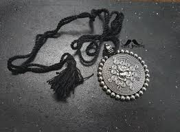 long black pendant necklace images Extra long black thread german silver necklace macs jewelry jpg