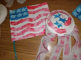 4th of july flag and shaker craft preschool crafts for kids