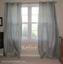 Easy No Sew Curtains Easy No Sew Hem For Curtains Erin Spain