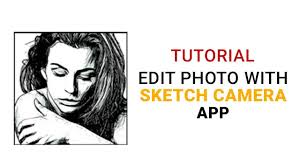 edit photo with sketch camera photo editor youtube