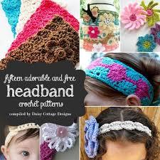 crochet headbands 15 free headband crochet patterns cottage designs