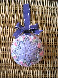 Large Christmas Ball Ornaments by No Sew Quilted Star Homemade Christmas Ornament