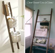 Bathroom Storage Ladder by 35 Money Saving Home Decor Knock Offs Pottery Barn And Storage