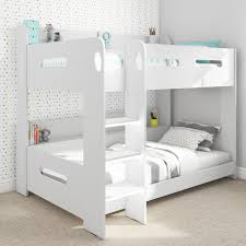 Midi Bunk Beds Sky White Bunk Bed Ladder Can Be Fitted Either Side Furniture123