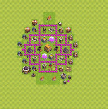 coc map layout th6 trophy defense base plan layout design th 6 clash of clans
