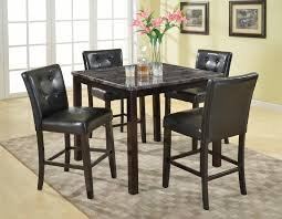 chair 5 piece dining table set 4 chairs wood kitchen dinette room