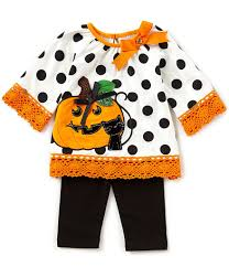 rare editions baby girls 3 24 months halloween pumpkin top